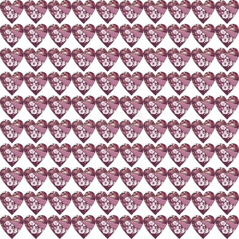 Seamless mönstra med färgrika hjärtor vektor illustrationer
