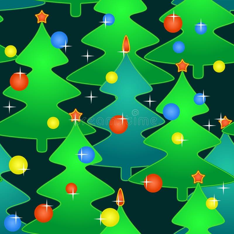 Seamless mönstra med feriejul-trees royaltyfri bild