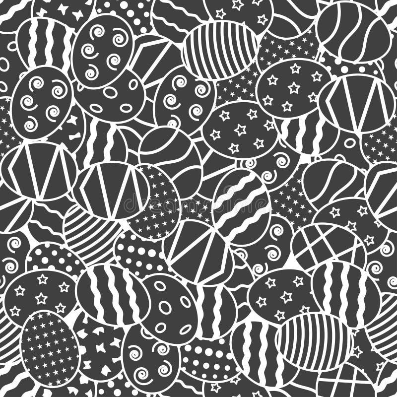 Seamless mönstra med påskägg stock illustrationer