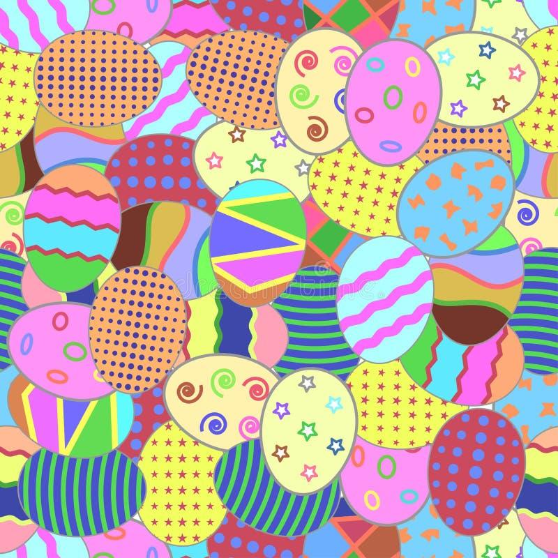 Seamless mönstra med påskägg vektor illustrationer
