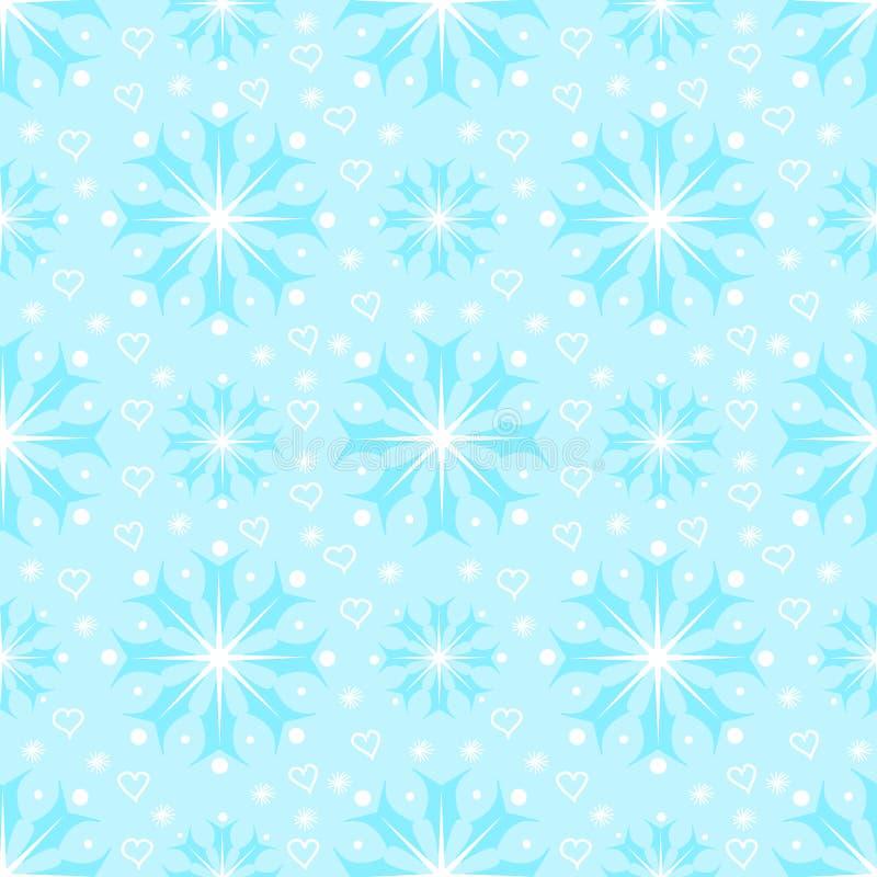 Download Seamless Mönstra Med Snowflakes Stock Illustrationer - Illustration av beröm, målning: 27281801