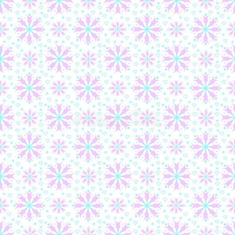 Download Seamless Mönstra Med Snowflakes Stock Illustrationer - Illustration av symbol, garnering: 27281831