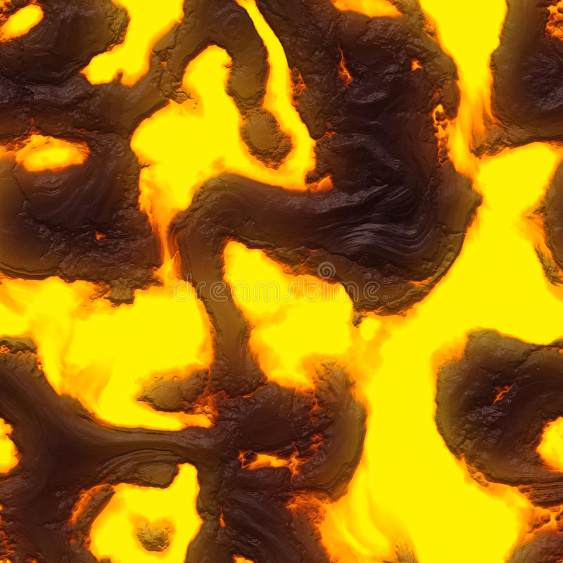 Seamless magma or lava texture stock photography