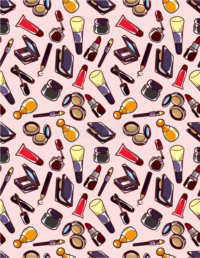Download Seamless makeup pattern stock vector. Illustration of cute - 18684772