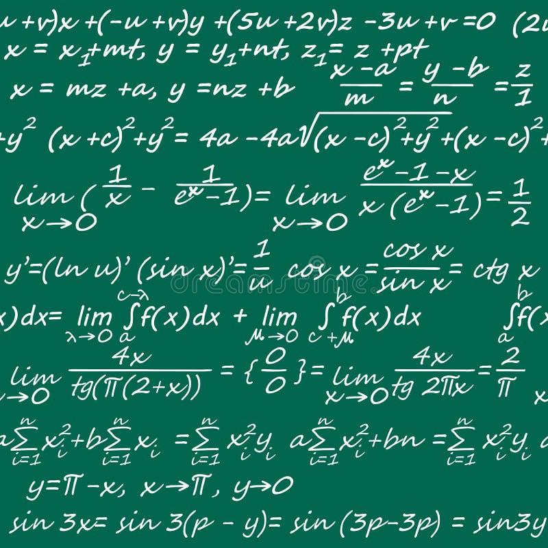 seamless matematik stock illustrationer