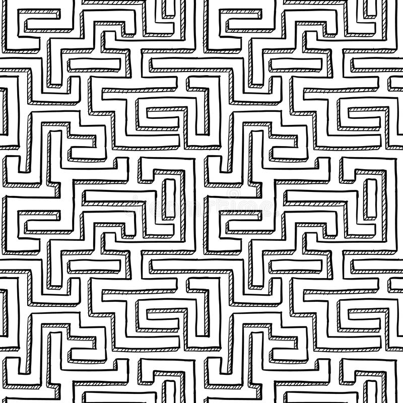 Seamless Maze Background Stock Photography
