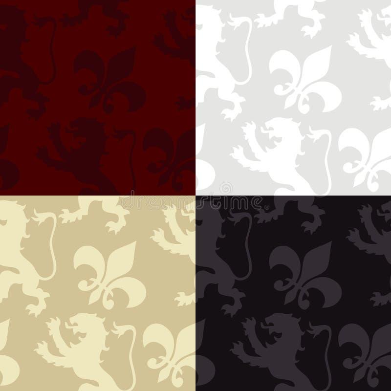 Seamless Medieval Pattern stock image