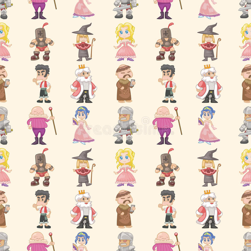 Download Seamless Medieval People Pattern Stock Vector - Illustration: 28072209