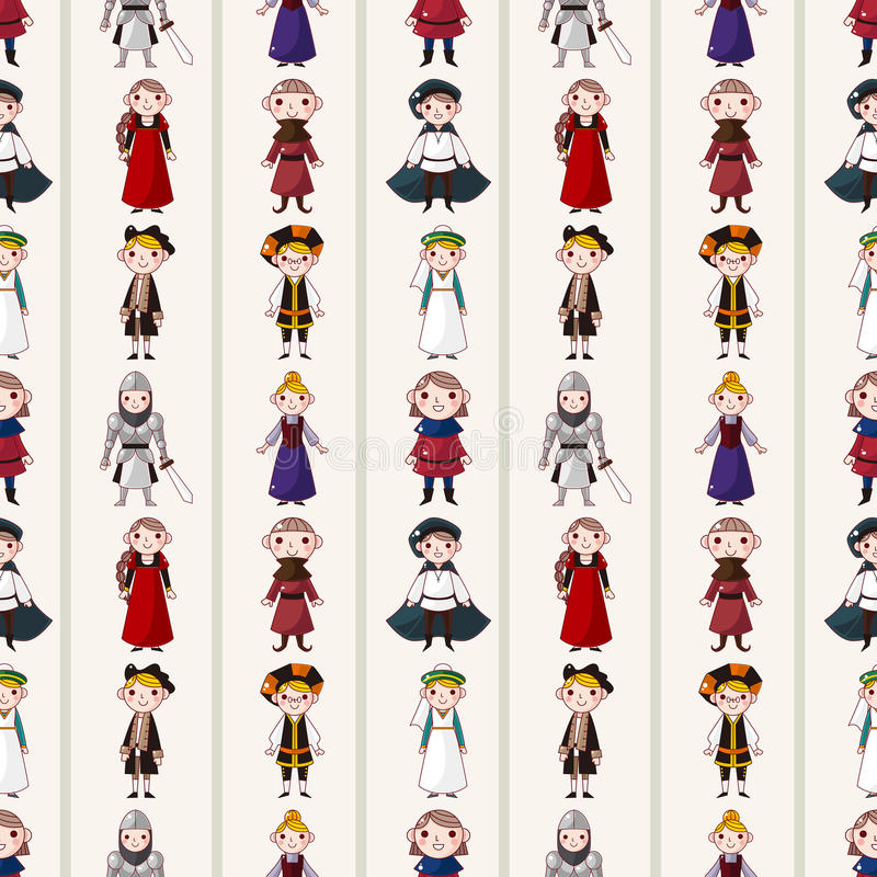 Download Seamless Medieval People Pattern Stock Vector - Image: 28244001