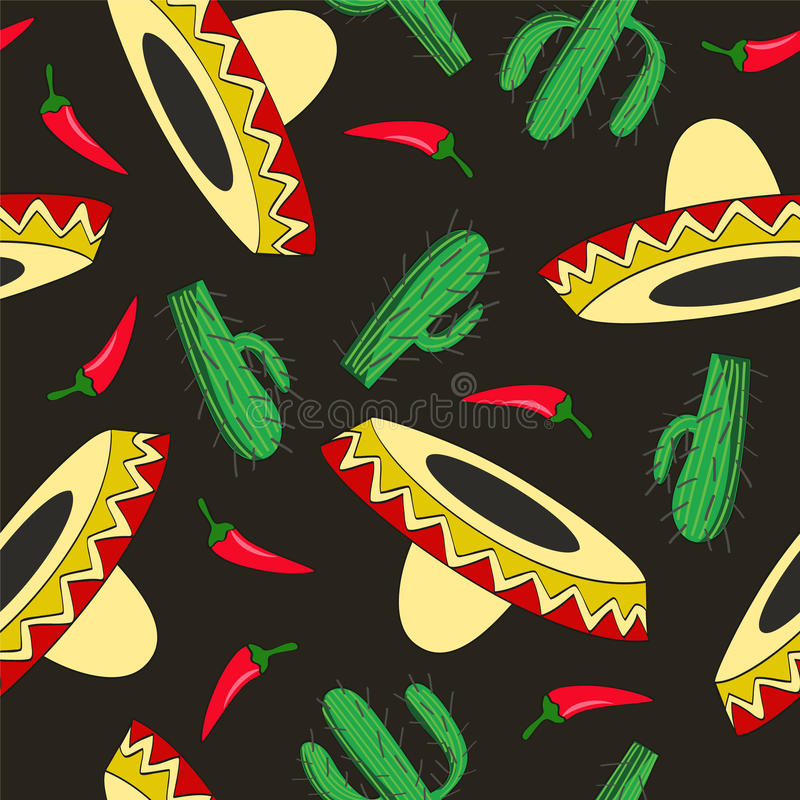 Seamless Mexican background vector illustration