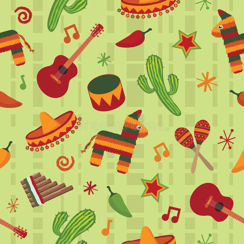 Free Seamless Mexican Pattern Stock Photography - 12825092
