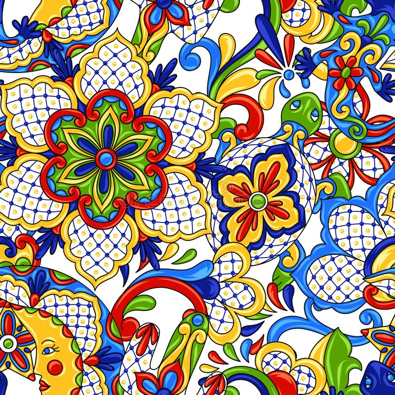 seamless mexikansk modell royaltyfri illustrationer