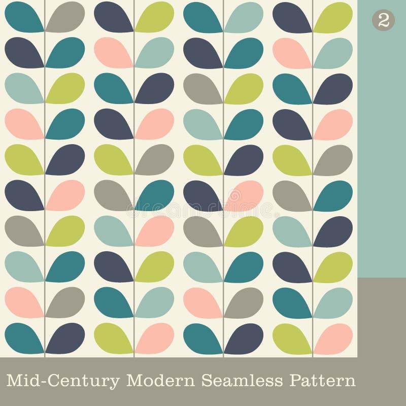 Seamless mid century modern vector pattern vector illustration