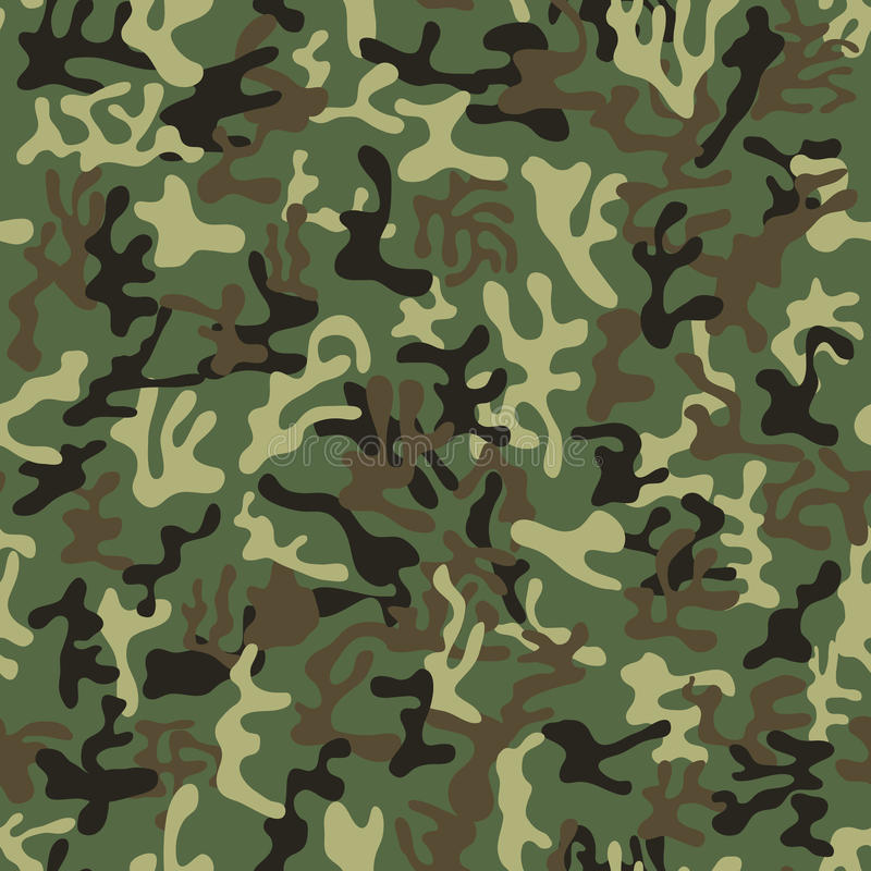 Seamless military camouflage pattern royalty free illustration