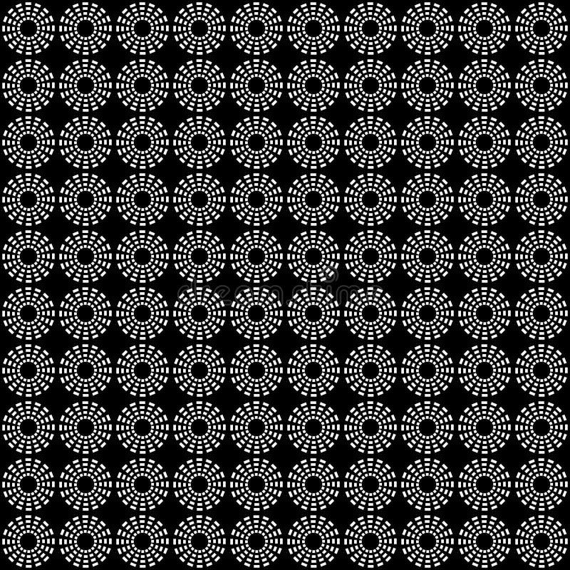 Seamless modell av cirklar geometrisk bakgrund arkivbild