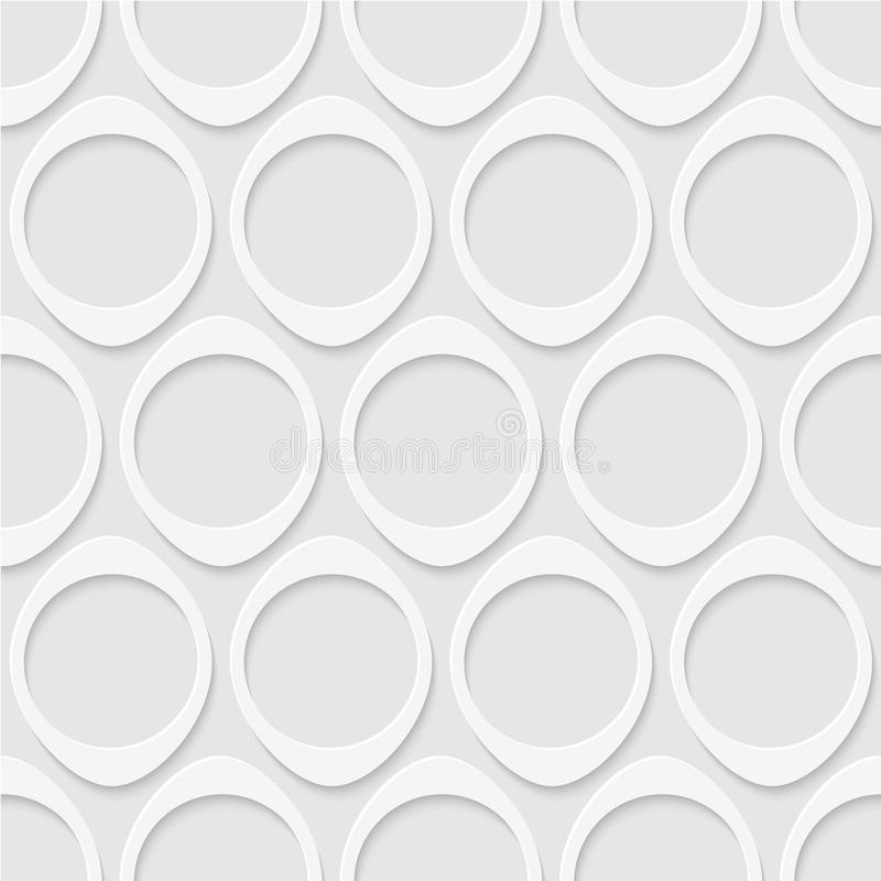 Seamless modell av cirklar geometrisk wallpaper royaltyfri illustrationer