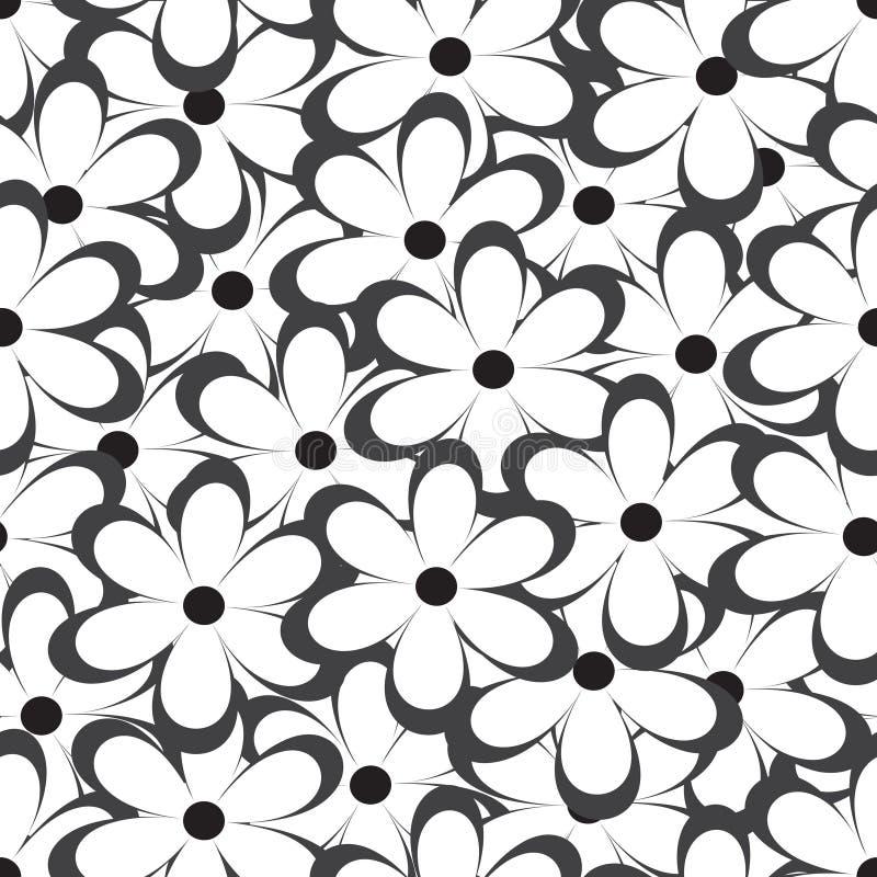 seamless modell blommar den samless vektorn för illustrationpattenen Blom- tryck för tappning stock illustrationer