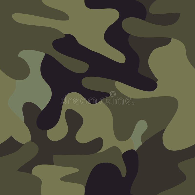 seamless modell för armékamouflagekommando royaltyfri illustrationer