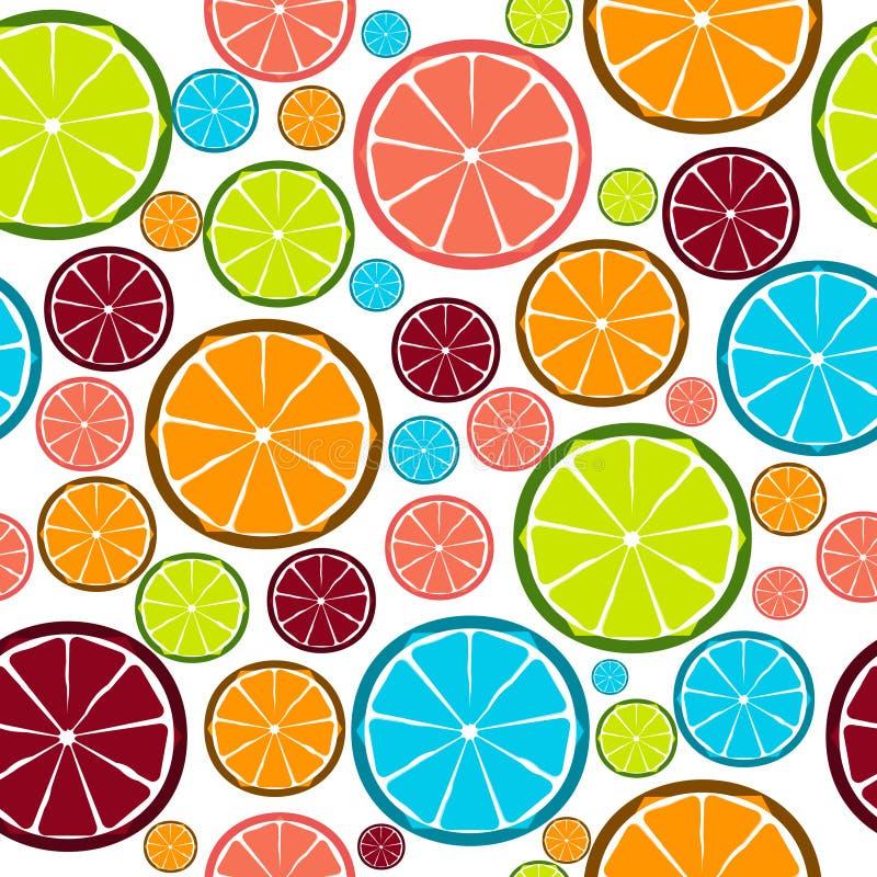 Seamless modell för fruktdesign. Vektor stock illustrationer