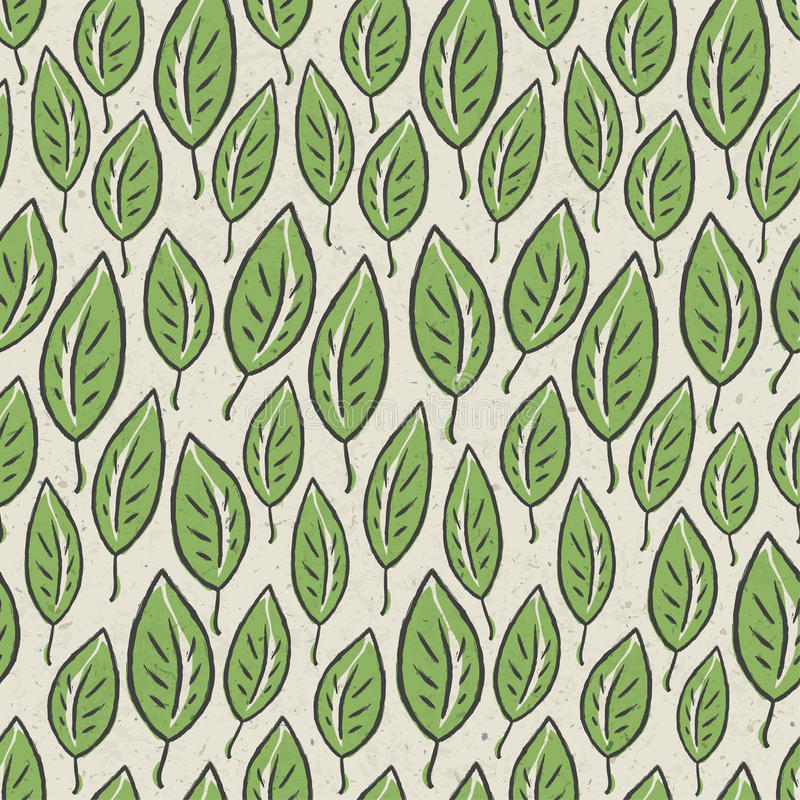 Seamless modell för grön abstrakt leaf stock illustrationer