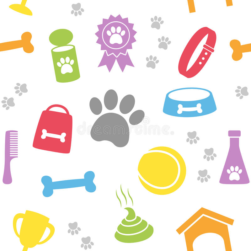 Seamless modell för hundomsorg vektor illustrationer