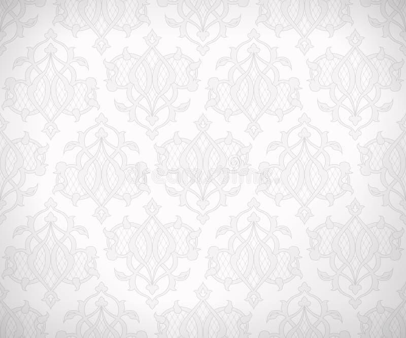 Seamless modell för tappning för bakgrundsdesign stock illustrationer