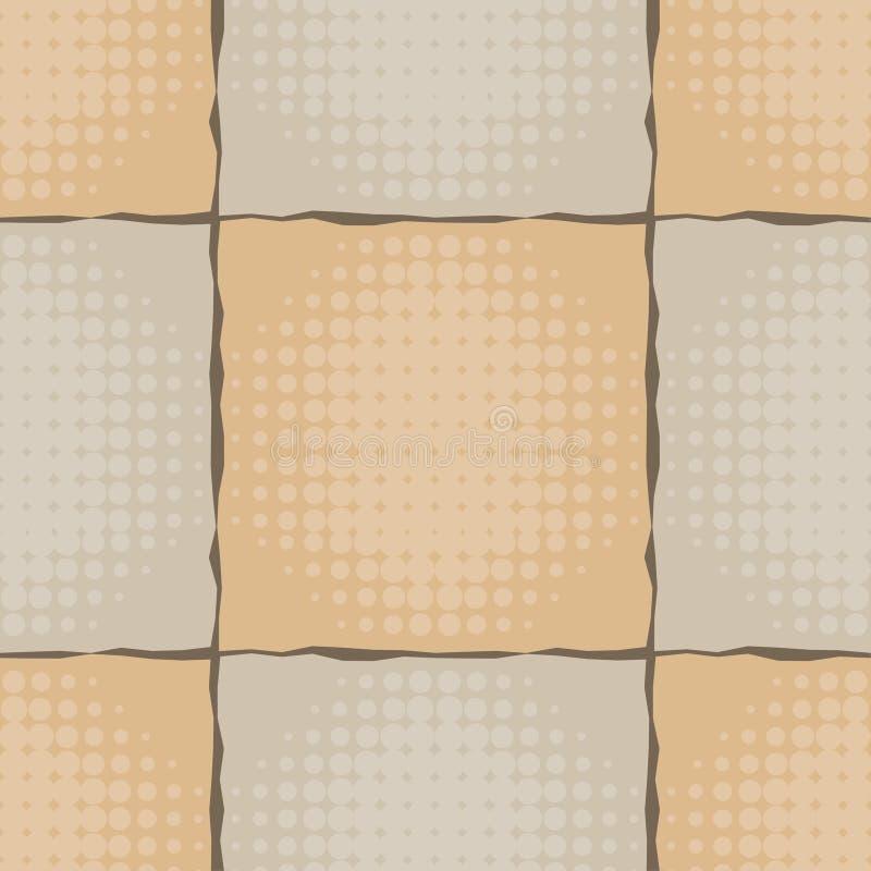 seamless modell Festligt brunt Kraft inpackningspapper Textur Kraft stock illustrationer