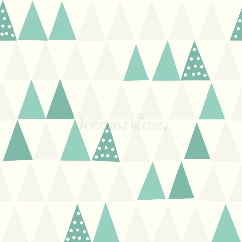 seamless modell geometriskt jul min version för portföljtreevektor stock illustrationer