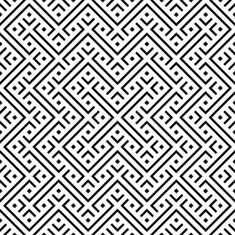 seamless modell Upprepa geometrisk textur royaltyfri illustrationer