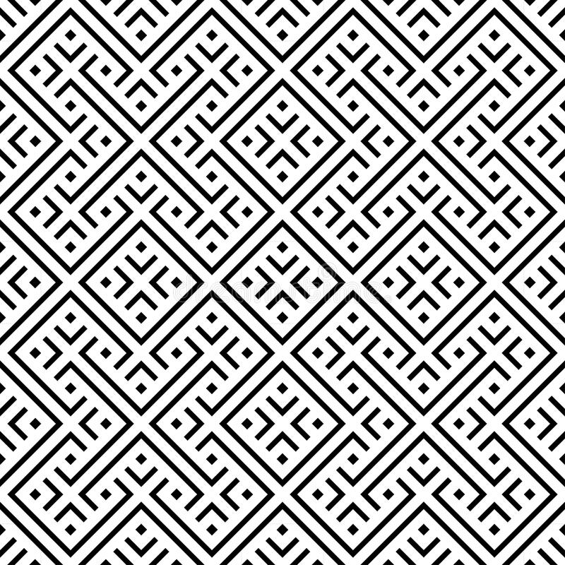 seamless modell Upprepa geometrisk textur stock illustrationer