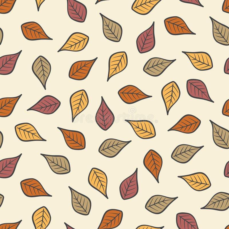 Seamless Modern Fall Autumn Leaves Background Pattern 1.  vector illustration