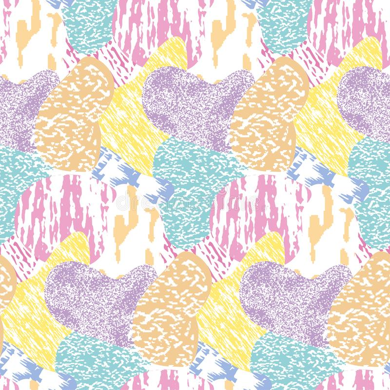Seamless modern textured, colorful grunge pattern. Background with multi-color combinations graphic ornament. EPS10 royalty free illustration
