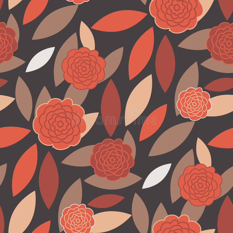 Download Seamless Modern Wallpaper Pattern Stock Illustration