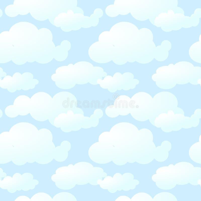 seamless molnig modell stock illustrationer