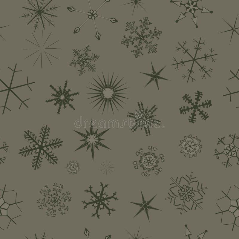 Seamless monochromatic background. Seamless snowflake christalle decorated monochromatic background stock illustration