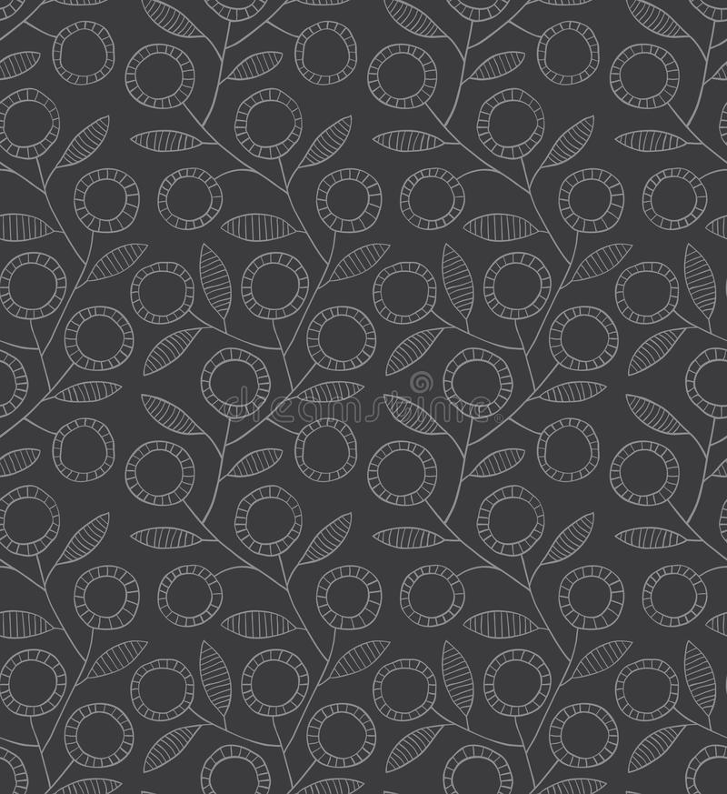 Download Seamless Monochrome Floral Pattern Stock Vector - Image: 66491892