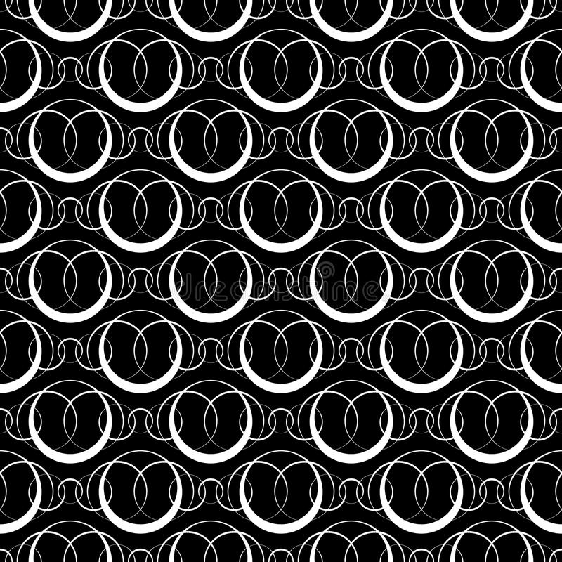 Seamless Monochrome Ornament. Vector Abstract Seamless Monochrome Ornament stock illustration