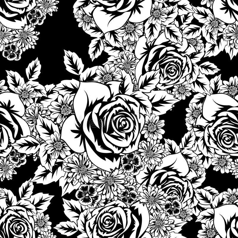 Seamless monochrome pattern vector illustration