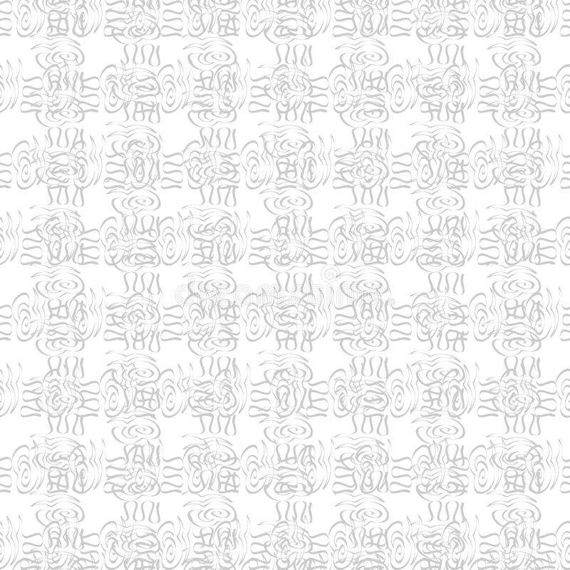 Seamless monochrome pattern. Retro texture in grey color. Stylish hand drawing grid, black and white background. Illustration stock illustration