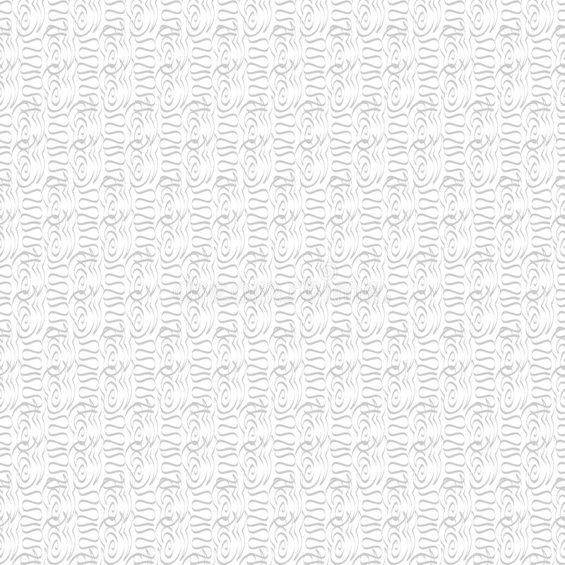 Seamless monochrome pattern. Retro texture in grey color. Stylish hand drawing texture, black and white background. Illustration royalty free illustration