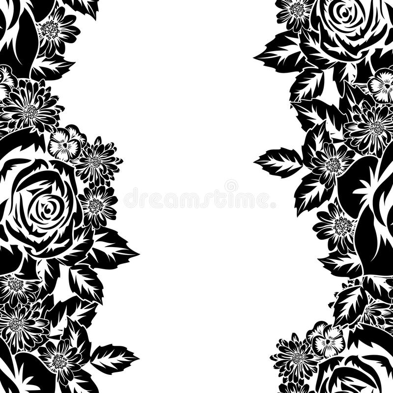 Seamless monochrome pattern stock illustration