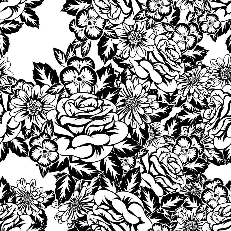 Seamless monochrome pattern royalty free illustration