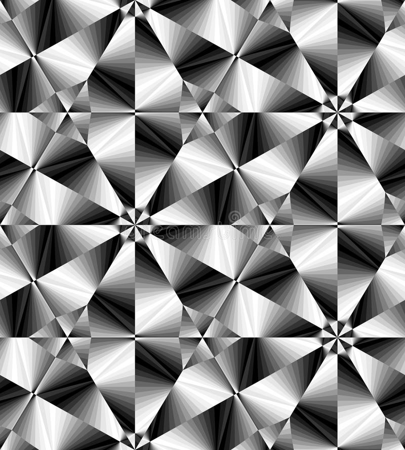 Free Seamless Monochrome Polygonal Geometrical Pattern Gently Glowing From Light To Dark Tones Create The Illusion Of Depth And Stock Photo - 78768850