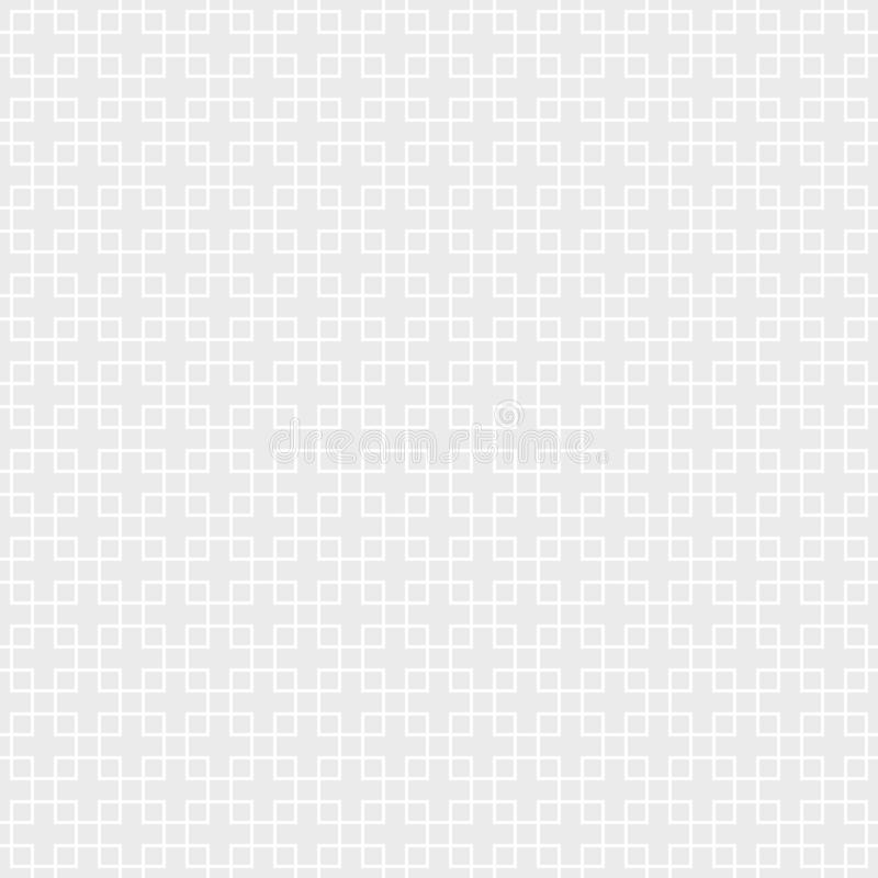 seamless monokrom modell Geometrisk fyrkantbakgrund vektor illustrationer