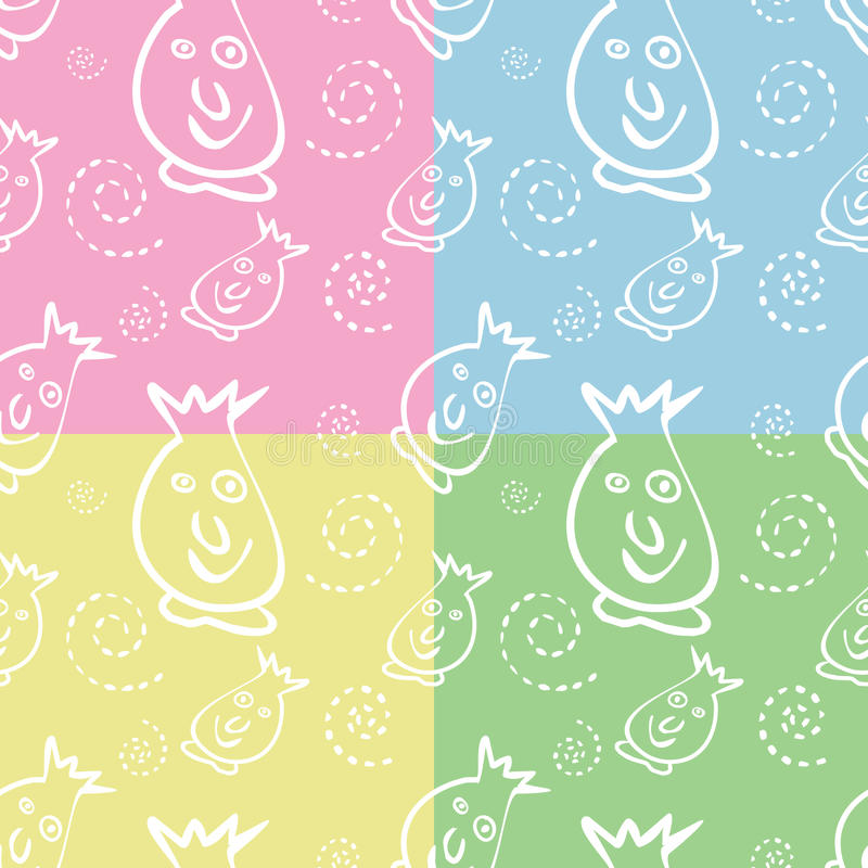Download Seamless Monster Pattern Royalty Free Stock Photo - Image: 25070465