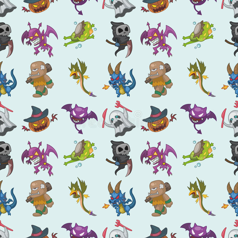 Download Seamless monster pattern stock vector. Image of cartoon - 28072185
