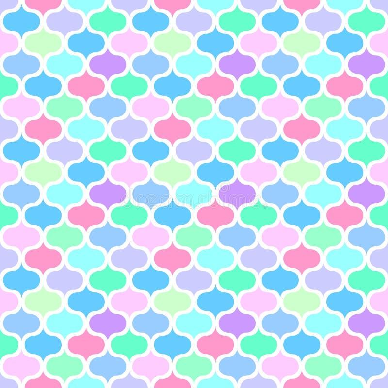 Seamless mosaic multicolour pattern. Diagonal texture stock illustration