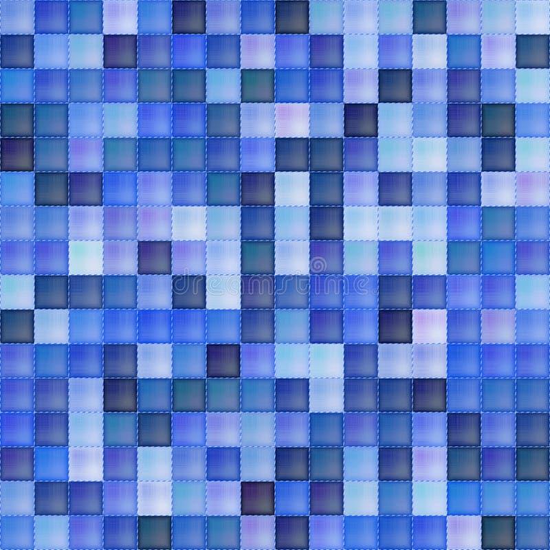 Seamless mosaic tile background vector illustration