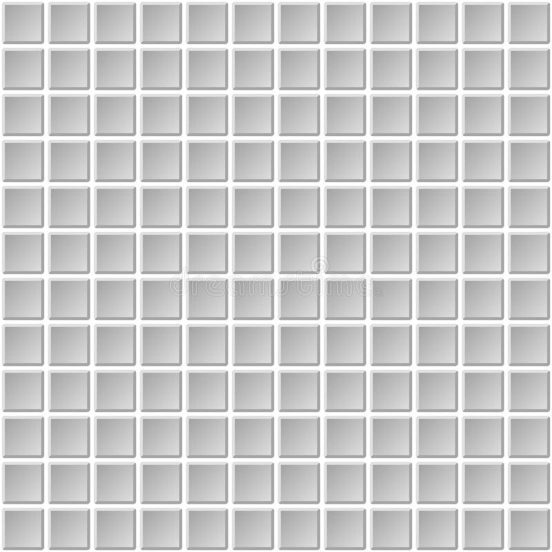 Download Seamless Mosaic Tiles Texture With White Filling Stock Vector