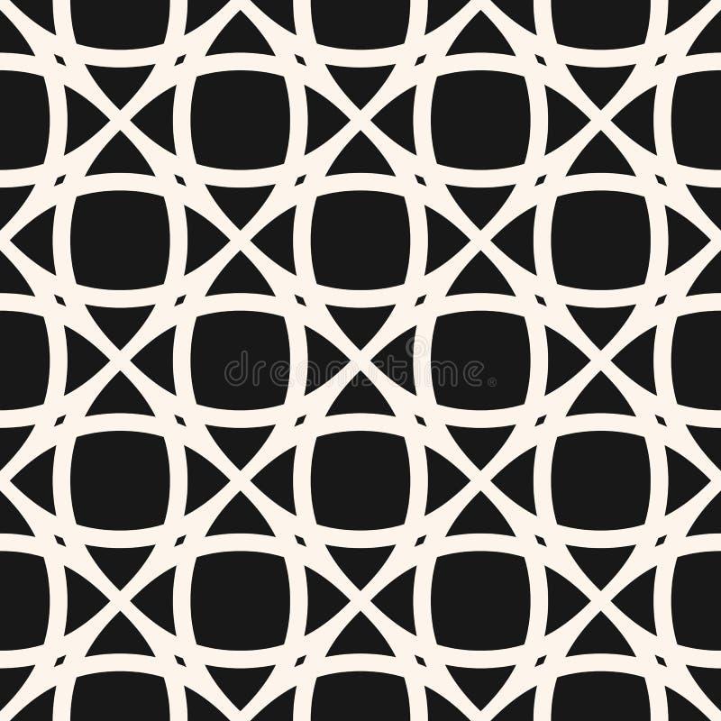 seamless mosaikmodell Geometrisk bakgrund för svartvit abstrakt vektor royaltyfri illustrationer